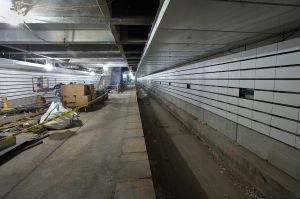 Underground construction. (Patrick Cashin/Metropolitan Transportation Authority)
