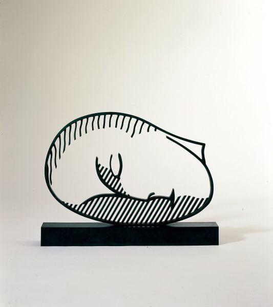 ROY LICHTENSTEIN Sleeping Muse, 1983 Patinated bronze 25 1/2 x 34 1/4 x 4 inches (64.8 x 87 x 10.2 cm) Edition 5/7 © Estate of Roy Lichtenstein. Courtesy Gagosian Gallery.