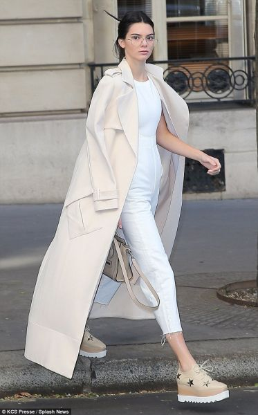The duster trench that Ms. Jenner wore twice during Paris Fashion Week (Photo: Courtesy Sally LaPointe).