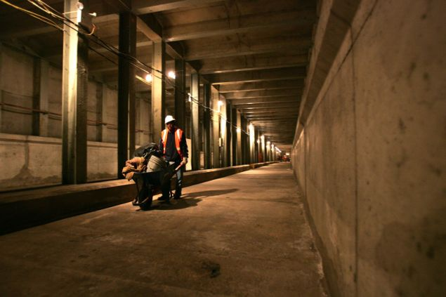 An unfinished tunnel of the proposed Second Avenue Subway. (Photo by Spencer Platt for Getty Images)