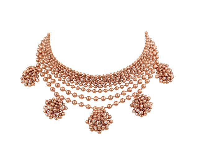 Cartier Paris Nouvelle Vague Necklace, 18K Rose Gold, Diamonds, Price Upon Request, Cartier.us. (Photo: Vincent Wulveryck/Cartier).