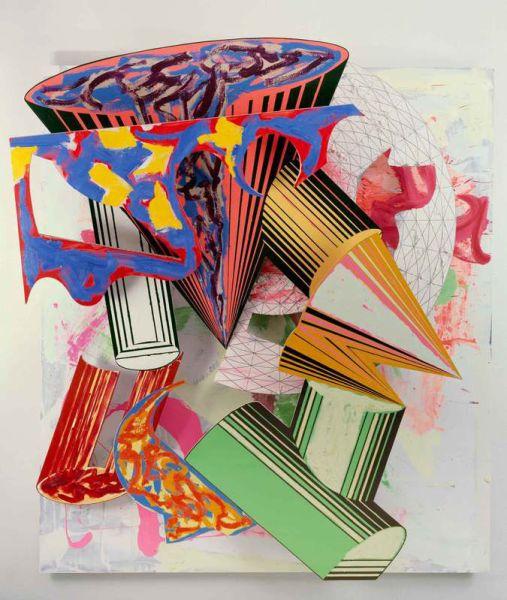 Frank Stella, Gobba, zoppa e collotorto, 1985. (Photo: © 2015 Frank Stella/Artists Rights Society, New York, and Courtesy The Art Institute of Chicago)