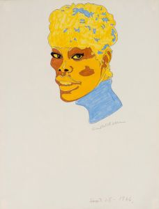 A 1966 Karl Wirsum drawing of Dionne Warwick. (Photo: Courtesy of Corbett vs. Dempsey)