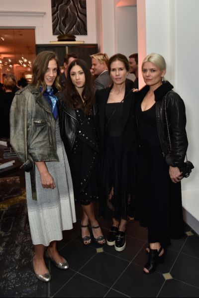 NEW YORK, NY - OCTOBER 22: (L-R) Erin Beatty, Jenn Brill, Gucci Westan and Kate Young attend the unveiling of RH Modern at RH New York, The Gallery in the Historic Flatiron District on October 22, 2015 in New York City. (Photo by Eugene Gologursky/Getty Images for RH)