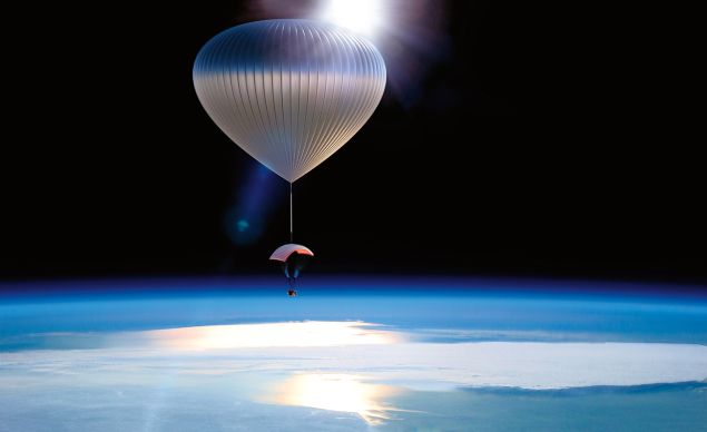 Live the high life by flying 100,000 ft. above the planet (Photo: Neiman Marcus)