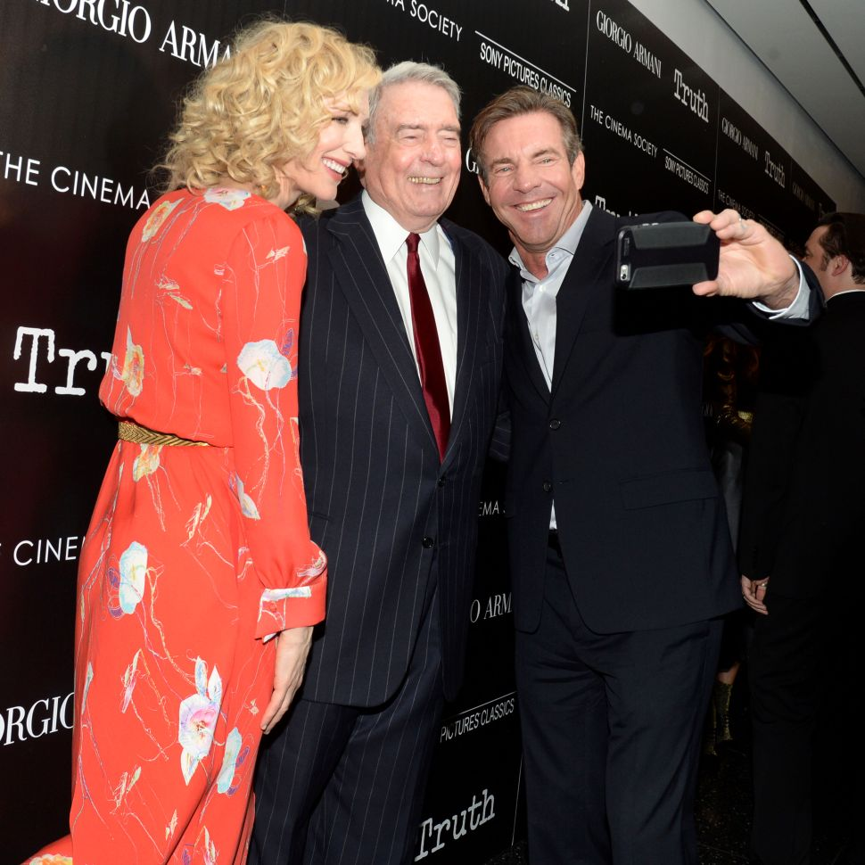 Cate Blanchett, Dan Rather, Dennis Quaid (Photo: Clint Spaulding for Patrick McMullan)