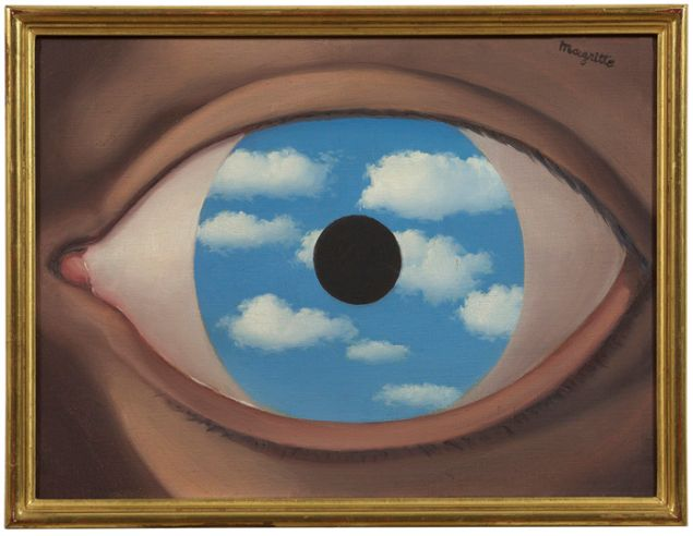 René Magritte, Le faux miroir, c. 1950. Photo: © 2015 C. Herscovici / Artists Rights Society (ARS), New York