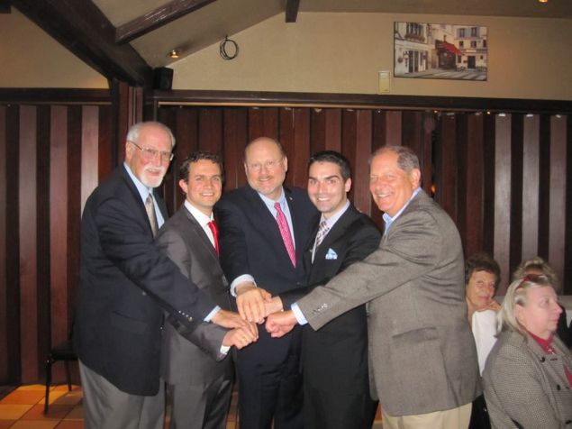 Former Minority Leader Thomas Ognibene, left, with former Congressman Robert Turner, right, Councilman Eric Ulrich, second from right, and former mayoral candidate Joseph Lhota (Photo: Facebook).