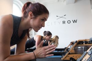 Classes at CityRow often incorporate strength-building exercises. (Photo: Aaron Adler for Observer)