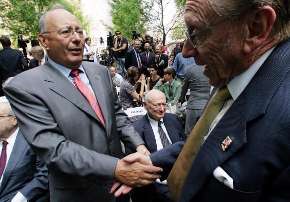 Former Sen. Al D'Amato, at left (Photo by Michael Albans/NY Daily News Archive via Getty Images)