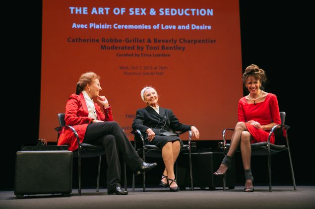 From left: Beverly Charpentier, Catherine Robbe-Grillet and Toni Bentley. (Photo: Courtesy FIAF, photo by Michael George)