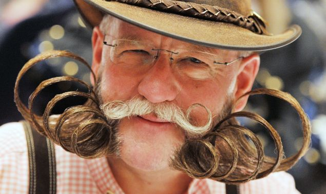 A participant in the German beard championships. (Photo: ULI DECK/AFP/Getty Images)