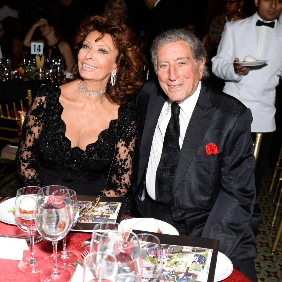Sophia Loren, Tony Bennett (Photo: Joe Schildhorn for BFA).