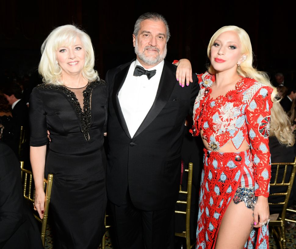 Cynthia Germanotta, Joe Germanotta, Lady Gaga (Photo: Joe Schildhorn for BFA).