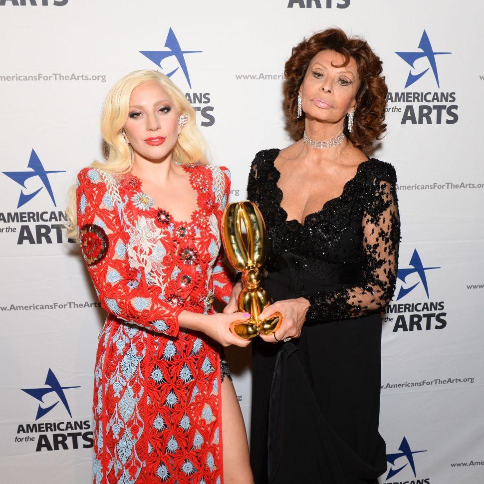 Lady Gaga, Sophia Loren (Photo: Joe Schildhorn for BFA).