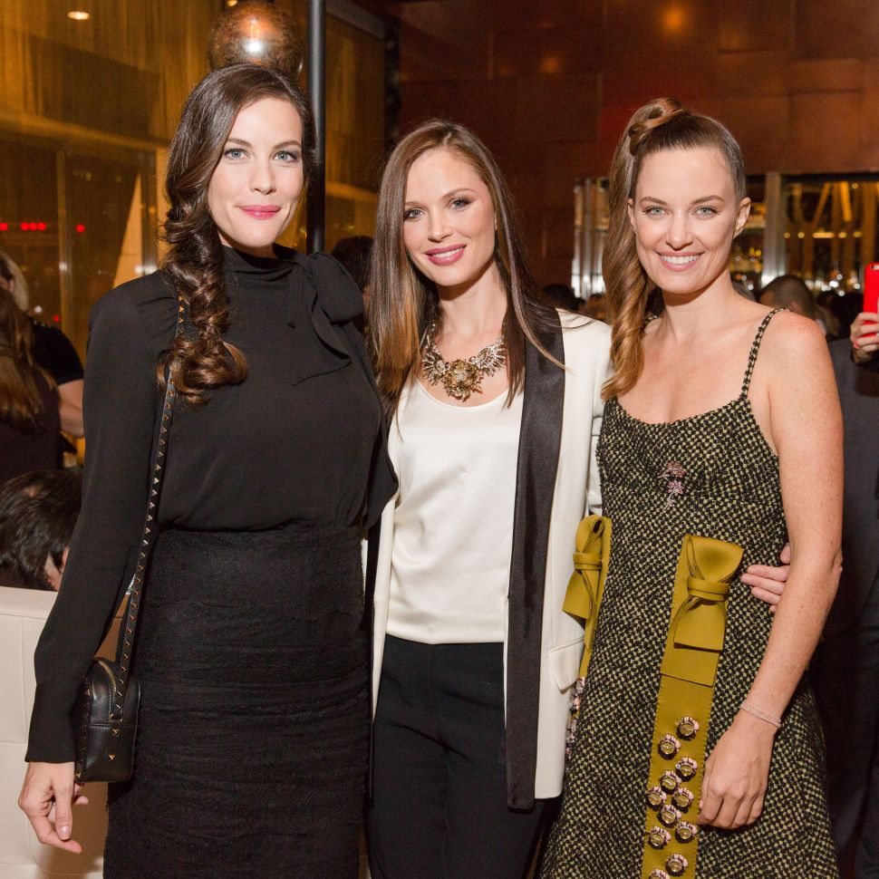 Liv Tyler, Georgina Chapman, Topaz Page-Green (Photo: BFA).