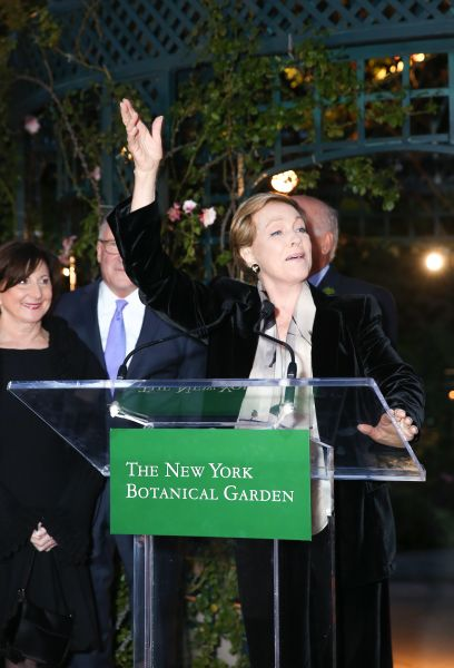 Ms. Andrews giving remarks during the cocktail hour held at the Rose Garden. (Photo: Kelly Taub/BFA.com)