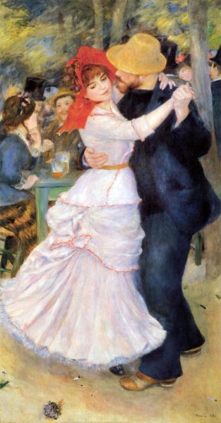 """Dance at Bougival,"" 1891, by Pierre-Auguste Renoir."