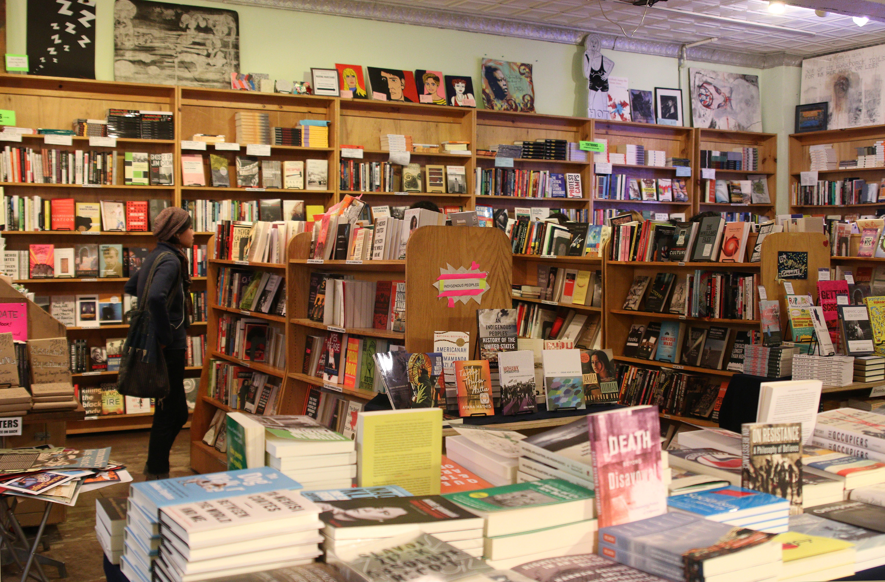 Radical bookstore Bluestockings is fighting to keep its Lower East Side space (Lisa Brown/New York Observer)