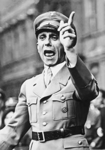Palestinians apparently have a Joseph Goebbels (Wikimedia).