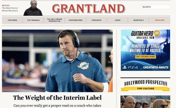Grantland's final homepage. (Photo: Twitter)
