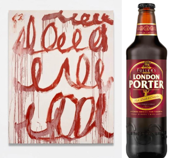 Cy Twombly's Untitled, 2006, and London Porter.