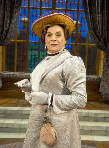 David Suchet as Lady Bracknell in the West End production of The Importance of Being Earnest, which will be screened in movie theaters across the U.S. on November 3. (Photo: Alastair Muir)