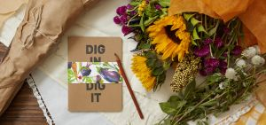 "Also up for sale is the collection's ""Dig in to Dig it"" notebook. (Photo: Shamin Abas)"