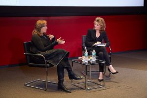 Designer Donna Karan and ELLE editor-in-chief get personal during Hearst Master Class talk. (Photo: Hearst)