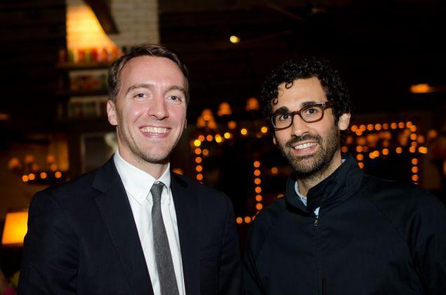 Mike Homer (left), Director of David Kordansky Gallery in Los Angeles and David Kordansky (right.)