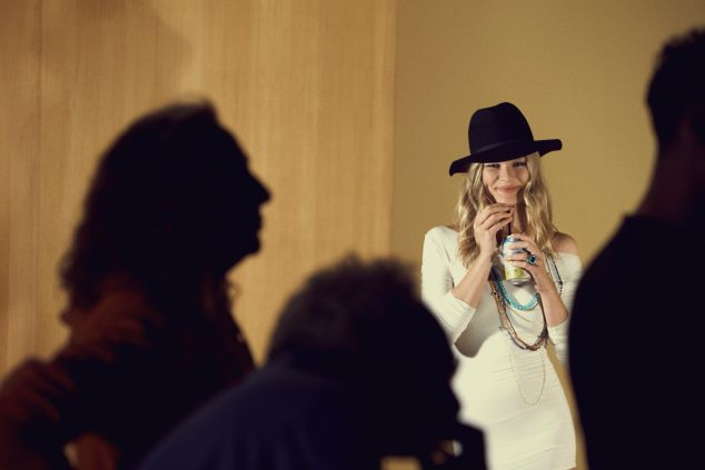 Anna Ewers behind-the-scenes for David Yurman's holiday campaign shoot. (Photo courtesy of David Yurman)