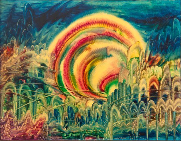 A painting by Eugene Von Bruenchenhein. (Photo: Courtesy the Outsider Art Fair)