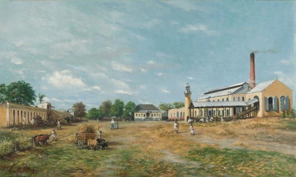 Francisco Oller, Hacienda La Fortuna, 1885. Brooklyn Museum.