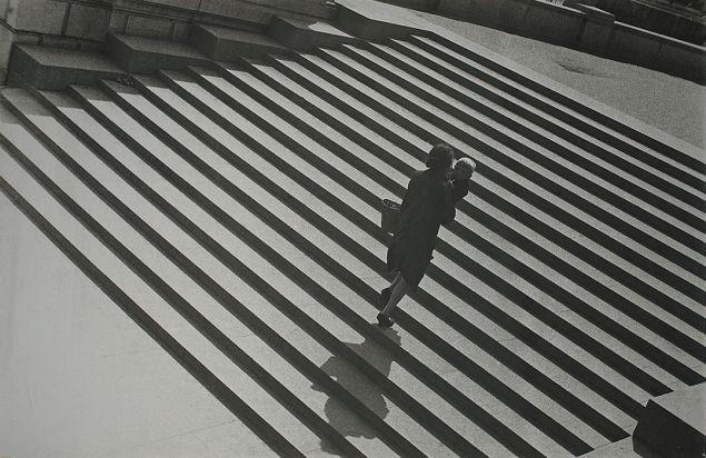 Alexander Rodchenko's Gelatin silver print, Stairs, 1929–30.(Photo: Courtesy of Sepherot Foundation, Vaduz, Liechtenstein and the Jewish Museum)