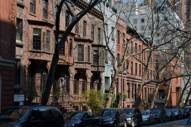 It's not just the historic brownstone, it's the idyllic block. (STAN HONDA/AFP/Getty Images)