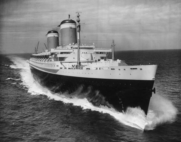 The new United States liner SS United States, winner of the Blue Riband for 1952 with a transatlantic crossing speed of 41 mph. (Photo by Hulton Archive/Getty Images)