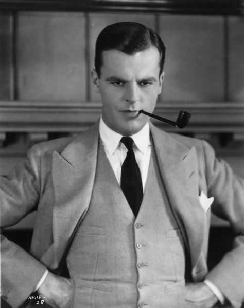 1926: American actor Neil Hamilton (1899-1984) as he appears in the silent film version of 'The Great Gatsby', based on the novel by F Scott Fitzgerald.. (Photo by General Photographic Agency/Getty Images)