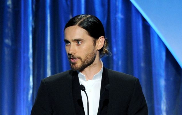 BEVERLY HILLS, CA - JANUARY 19:  Actor Jared Leto speaks onstage during the 25th annual Producers Guild of America Awards at The Beverly Hilton Hotel on January 19, 2014 in Beverly Hills, California.  (Photo by Kevin Winter/Getty Images)