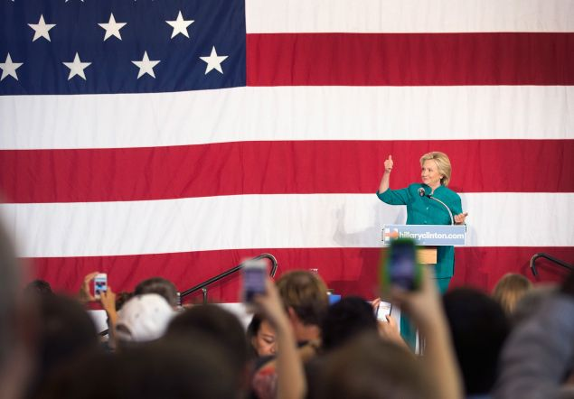 Hillary Clinton in Iowa. (Photo: Scott Olson/Getty Images)
