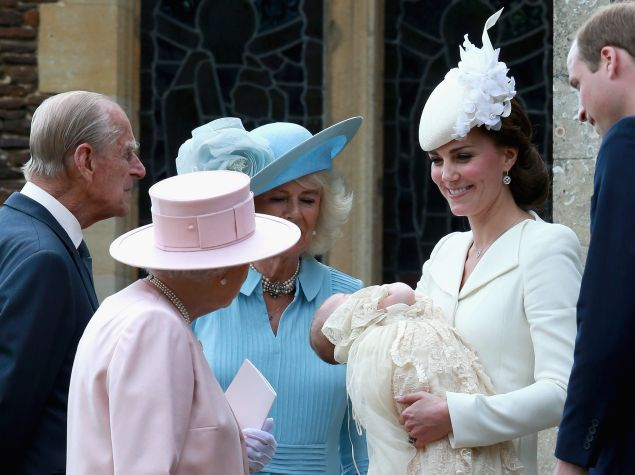 The lovely headwear at Princess Charlotte's christening. (Photo: Chris Jackson/Getty Images)