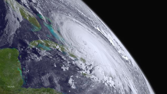 Hurricane Joaquin is seen churning in the Atlantic (Photo: NOAA via Getty Images)