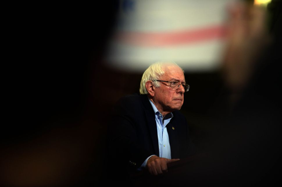 BOSTON, MA - OCTOBER 3: Democratic Presidential candidate Bernie Sanders speaks during a rally at the Boston Convention and Exhibition Center October 3, 2015 in Boston, Massachusetts. Thousands of people attended the rally, one of the biggest in recent state history for a politician. (Photo by Darren McCollester/Getty Images) *** Local Caption *** Bernie Sanders