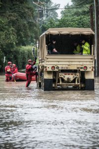COLUMBIA, SC - OCTOBER 5: October 5, 2015 in Columbia, South Carolina. The state of South Carolina experienced record rainfall amounts over the weekend. (Photo by Sean Rayford/Getty Images)