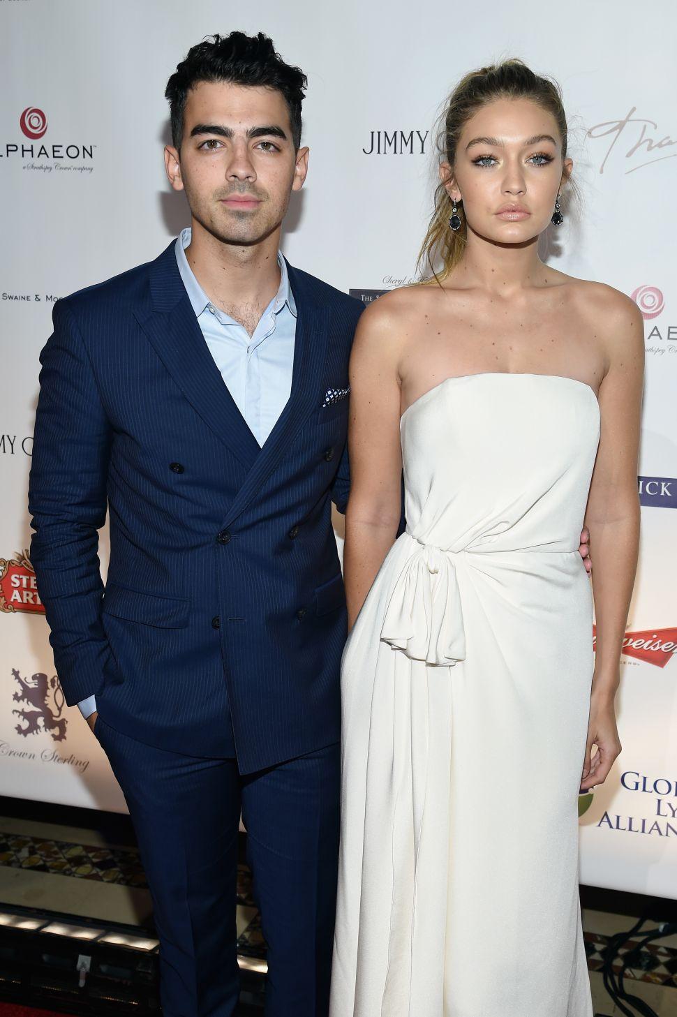 Joe Jonas, Gigi Hadid (Photo: Dimitrios Kambouris/Getty Images for Global Lyme Alliance).