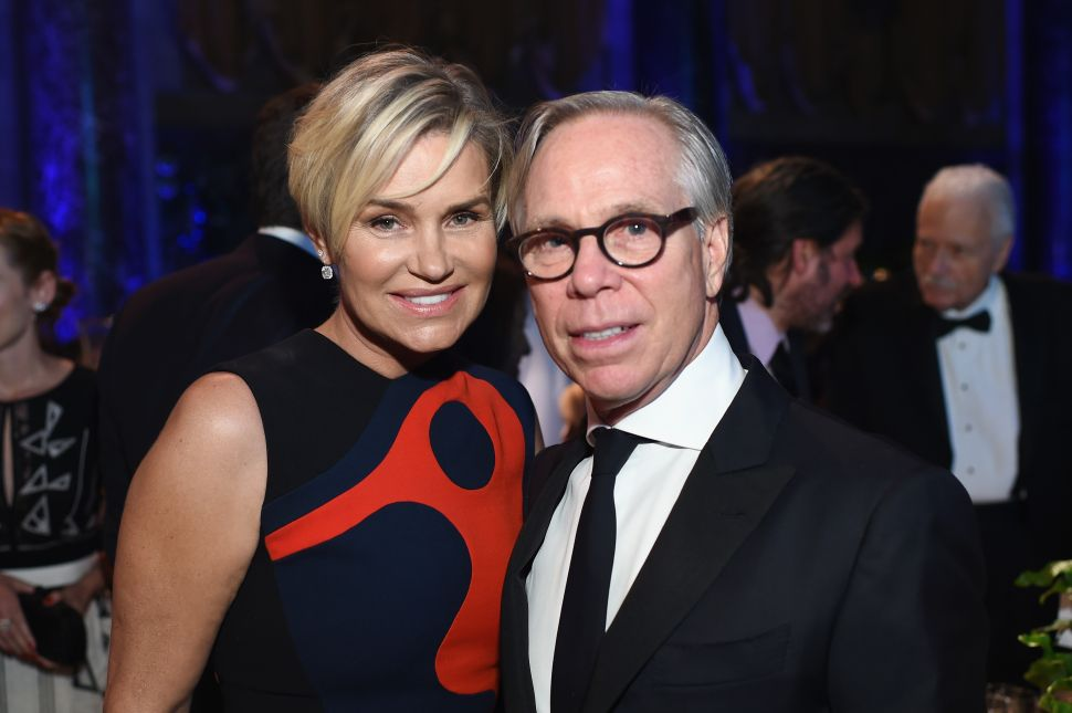 Yolanda Foster. Tommy Hilfiger (Photo: Dimitrios Kambouris/Getty Images for Global Lyme Alliance).
