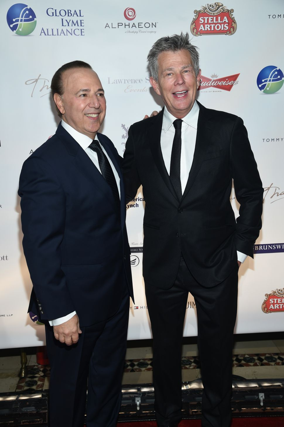 Tommy Motola, David Foster (Photo: Dimitrios Kambouris/Getty Images for Global Lyme Alliance).
