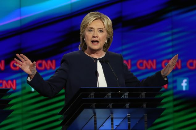 Hillary Clinton. (Photo: Joe Raedle/Getty Images)
