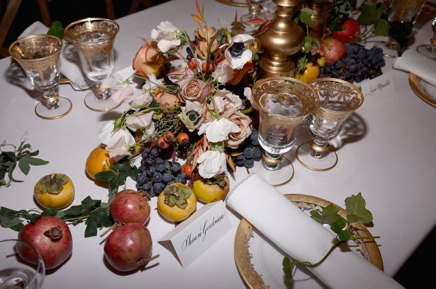 An over-the-top dinner spread (Photo: Getty Images).
