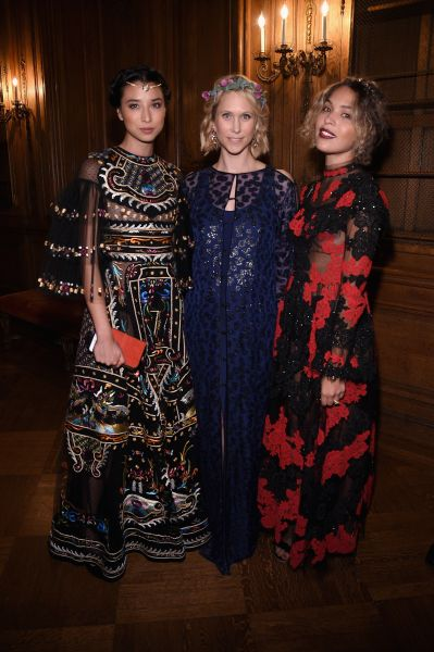 May Kwong, Indre Rockefeller in Prabal Gurung and Cleo Wade in Valentino (Photo: Getty Images).