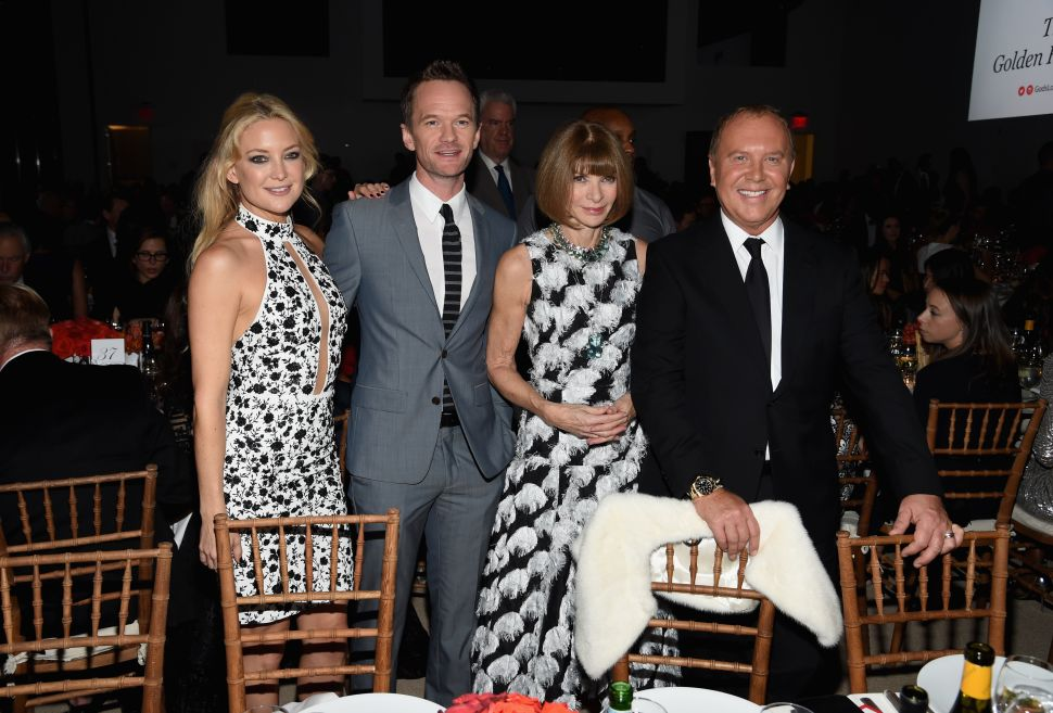 Kate Hudson, Neil Patrick Harris, Anna Wintour, Michael Kors (Photo by Nicholas Hunt/Getty Images for Michael Kors).